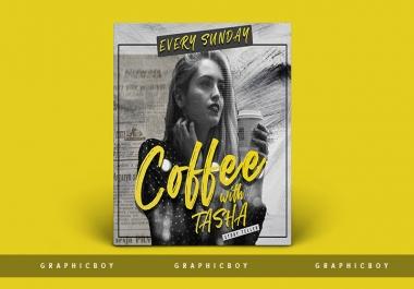 I will design podcast cover artwork