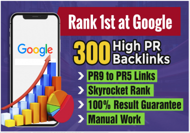 I will do 300 high pr backlinks rank one at google