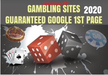 i will do improve Poker, Gambling Website with High DA PA CF TF 200 Permanent Backlinks