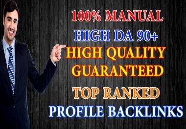 SEO Optimization With 10 Manually Created Permanent Profile Backlinks on DA 90+ Domains