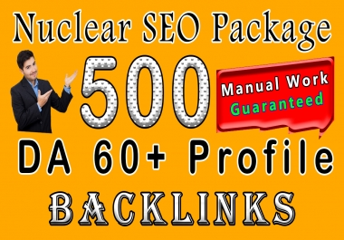 Nuclear Package Boost Your Site's Ranking With 500 Permanent SEO Profile Backlinks Manually Craeted