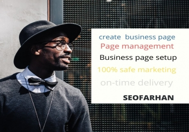 I will create and setup facebook business page and optimize