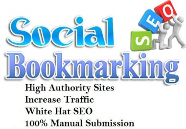 I will create a manually high link 100+ bookmarking social site of seolinks