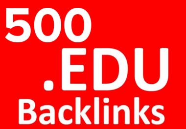 Provide 500 HQ. EDU PR10 to PR6 Backlinks best for your seo