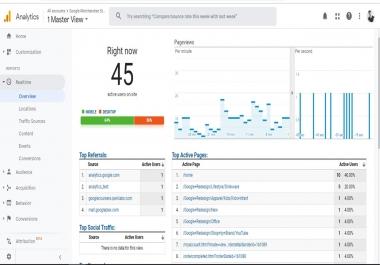 Google Analytics Setup in the website