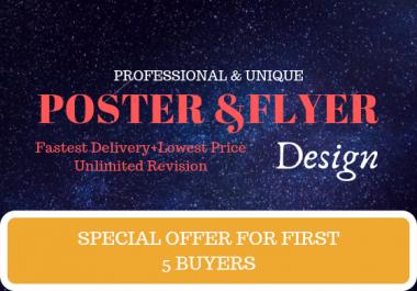 Design catchy flyer, poster design
