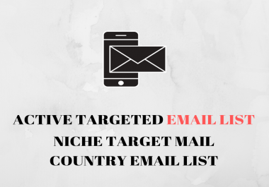 Targeted email lists for your business niche