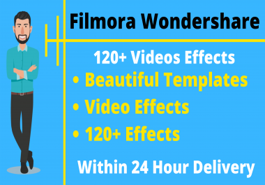 Filmora Wondershare 120+ Premium Templates Video Effects