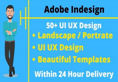 50+ Adobe Indesign UI UX Design Templates