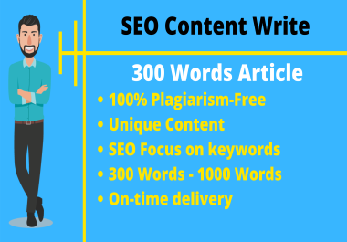 Write a Premium 300 Words Unique Article Writing Plagiarism Free Content