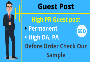 Guest Post On High Quality Backlink 95+ DA PA