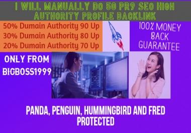 50 Pr9 High SEO Authority Backlinks - Fire Your Google Ranking