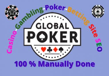 Casino/ Poker/ Gambling Sites SEO Rank1 with 400,000+ Quality Backlinks