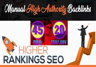 I will manually do 45 PR9 + 20 EDU/GOV Safe SEO High DA - Skyrocket your Google RANKINGS