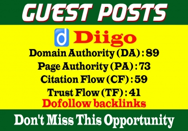 Write & Publish a guest post on Diigo-Diigo.com-DA89,PA73