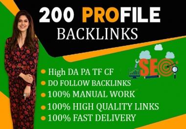 I will do 200 social profiles backlinks setup or profile creations backlinks