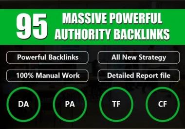 I will do 95 unique domain SEO backlink on da100 cf100 sites