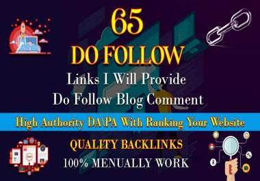 I will provide 65 unique domain blog comment backlink seo service
