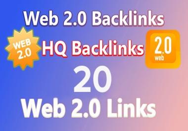 I will 10 build web 2.0 backlink manually