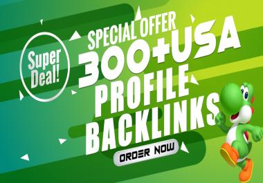 Rank on Google With 300 High DA 90+ PR9 Profile Backlinks