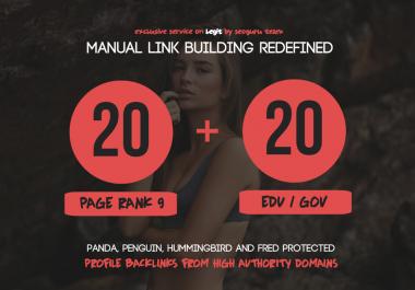 Make 20 Pr9 + 20 Edu- Gov High Pr SEO Authority Backlinks - Fire Your Google Ranking