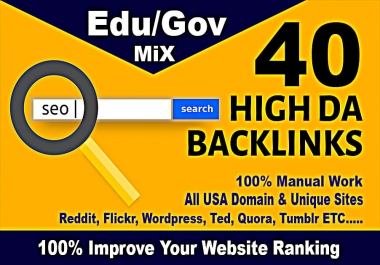 top 40 usa pr9,edu dofollow seo backlinks service link building