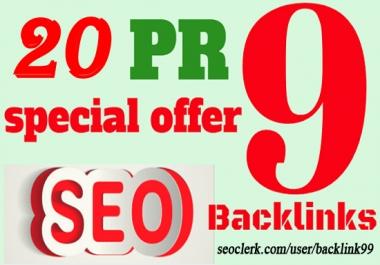 Provide you 20+ USA PR9 Domain Authority 90+ Back-links