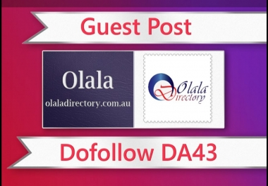 Submit a guest post on Olaladirectory.com.au
