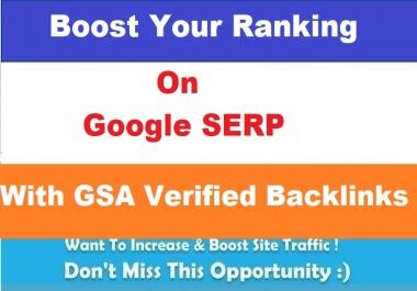 Provide You 1 Million GSA Verified Backlinks for Ranking
