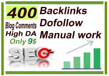 I will do 400 Backlinks dofollow High DA