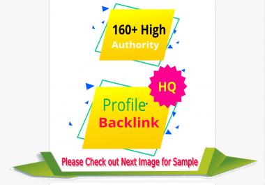 Do manually 160 High DA PA authority profile backlinks for google rankings