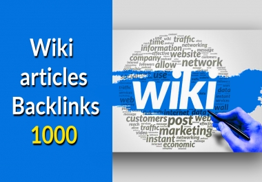 Create 1000 wiki contextual Backlinks