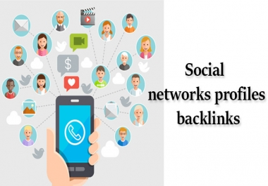 create 1000 Social networks profiles backlinks