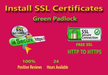 I will install & configure SSL certificate issue and appear secure lock icon on wordpress