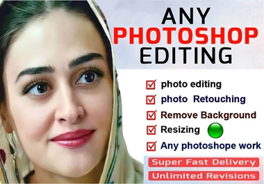 I will professionally edit any images within 12 hrs