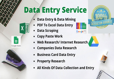I will be your virtual assistant for fastest data entry