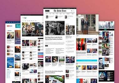 I will create a newspaper, blog website using PHP