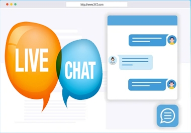 I will add live chat in your any website