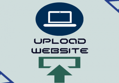 I will upload your website to your domain, hosting, vpn in 1 hour.