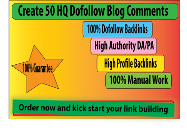 I Will do 50 High Quality Dofollow Blog Comments
