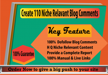 I Will do 110 Niche Relevant Blog Comments