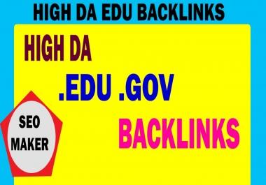 I will Create 20 high da premium quality edu gov backlinks for You Site