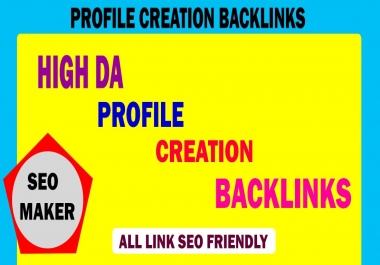 I will create 20 high authority profiles setup and profile creation backlinks rank google 1st page