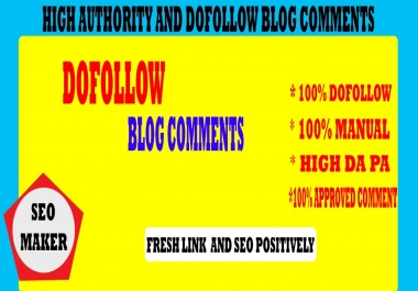 I will make 301 high authority Do follow blog comments backlinks RANK 1ST 2021