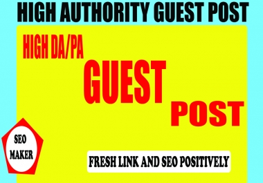 I will publish 5 high authority guest post for top SEO ranking