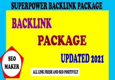 High Quality superpower Permanent Dofollow Backlinks Package (UPDATED 2021)