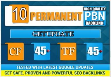 10 Pbn High Tf Cf Da Pa Backlink Permanent