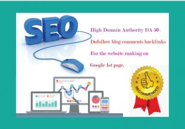 I will create 600 dofollow blog comments backlinks DA 50+
