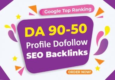 I will create 100 high DA,PA SEO Profile dofollow backlinks