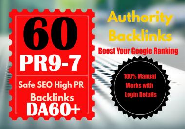 Manually Create TOP 60 DA60+ Authority Profile Backlinks to increase SERP SEO WEB